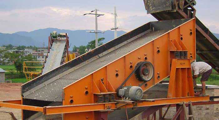 vibrating screen work