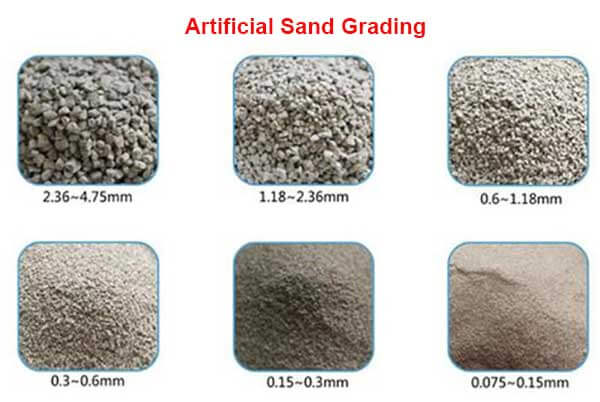 artificial sand grading