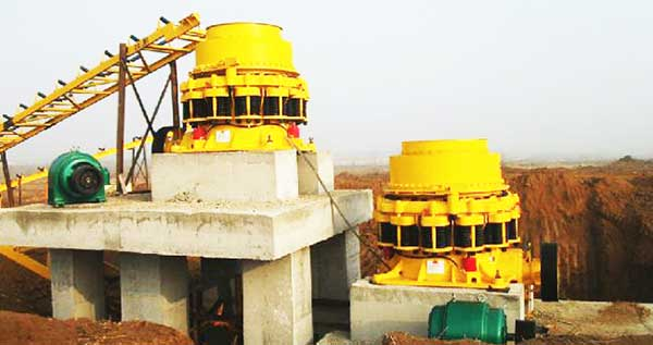 cone crusher working