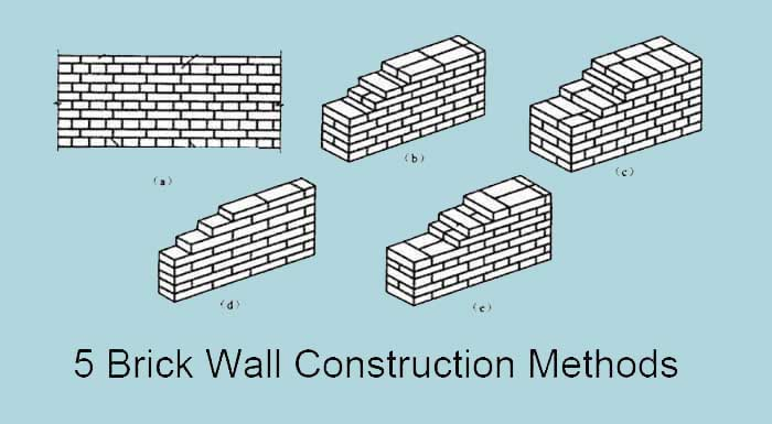 5 brick walls construction method