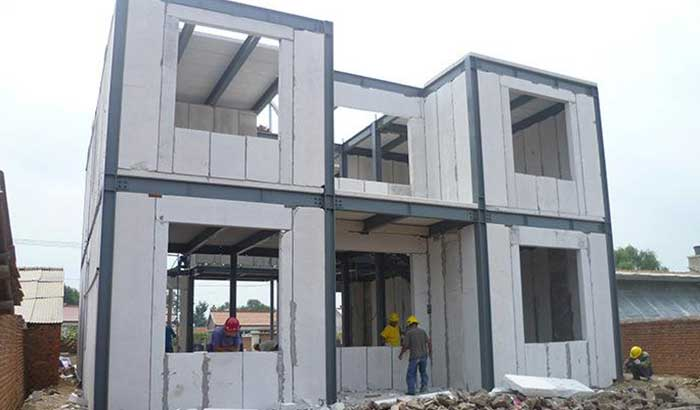 autoclaved aerated concrete building