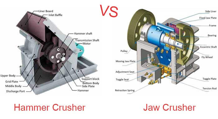 hammer crusher vs jaw crusher