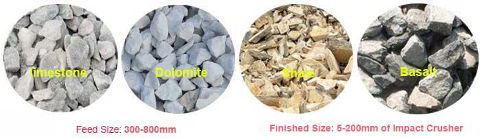 raw material of impact crusher