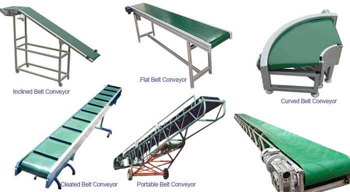 belt conveyor types