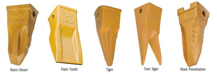bucket teeth types