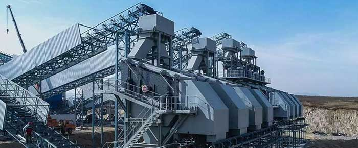 screening plant for aggregate